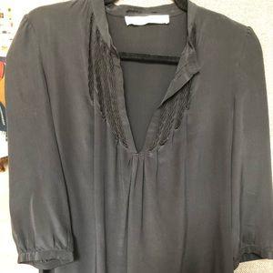 Ulla Johnson black silk blouse